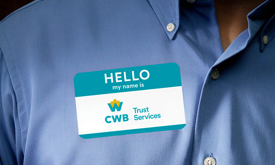 CWB Trust Services Introduction Name Tag